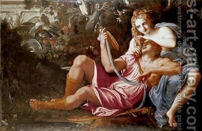 Rinaldo and Armida by Annibale Carracci - Reproduction Oil Painting