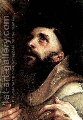 St. Francis of Assisi by Annibale Carracci - Reproduction Oil Painting