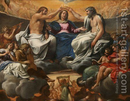 The Coronation of the Virgin by Annibale Carracci - Reproduction Oil Painting