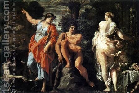 The Judgement of Hercules by Annibale Carracci - Reproduction Oil Painting