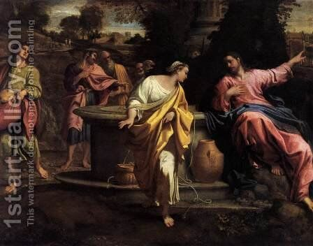 The Samaritan Woman at the Well by Annibale Carracci - Reproduction Oil Painting