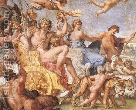 Triumph of Bacchus and Ariadne (detail) by Annibale Carracci - Reproduction Oil Painting