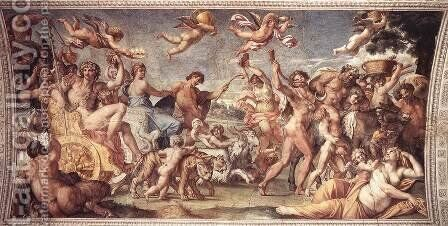 Triumph of Bacchus and Ariadne by Annibale Carracci - Reproduction Oil Painting
