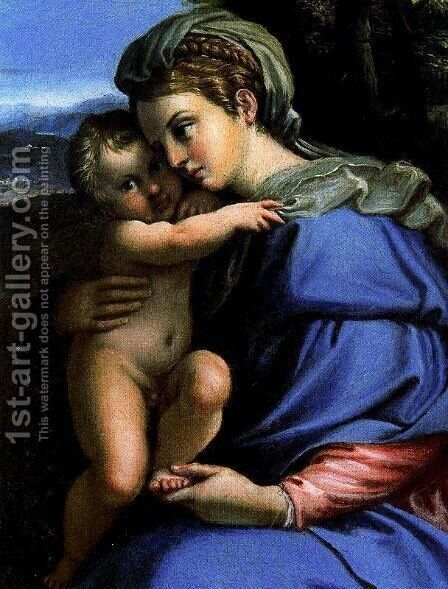 Virgin with Child by Annibale Carracci - Reproduction Oil Painting