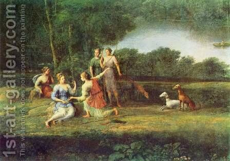 Egeria beweint Numa by Claude Lorrain (Gellee) - Reproduction Oil Painting