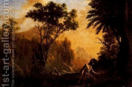 Landscape with San Onofre by Claude Lorrain (Gellee) - Reproduction Oil Painting