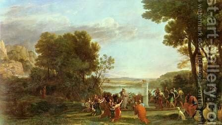 Landscape with the worship of the golden calf by Claude Lorrain (Gellee) - Reproduction Oil Painting