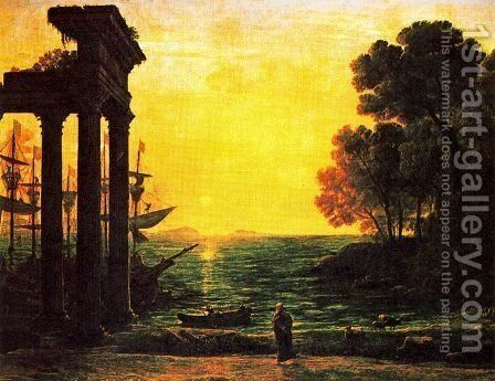 Marina with Ezekiel crying on the ruins of Tyre by Claude Lorrain (Gellee) - Reproduction Oil Painting