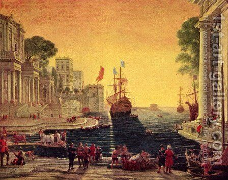 Odysseus returns Chryseis to Her Father by Claude Lorrain (Gellee) - Reproduction Oil Painting