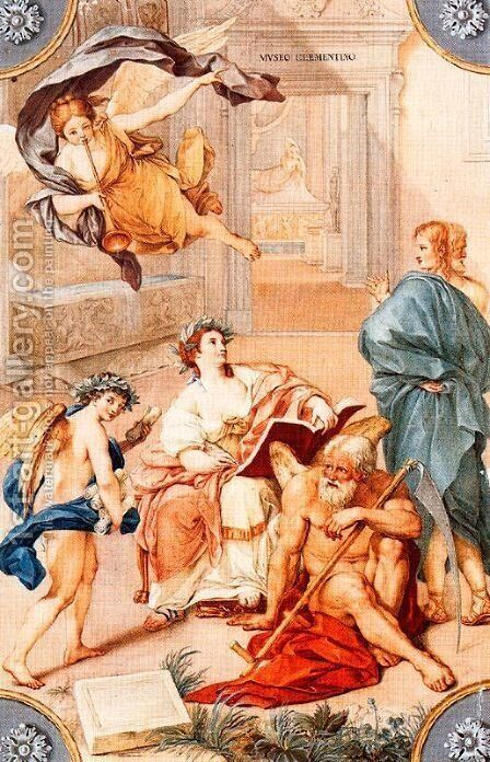 Allegoria del Museo Clementino by Anton Raphael Mengs - Reproduction Oil Painting