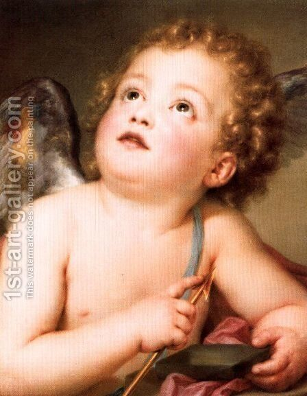 Amor with a dart by Anton Raphael Mengs - Reproduction Oil Painting