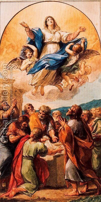Ascension of Maria by Anton Raphael Mengs - Reproduction Oil Painting