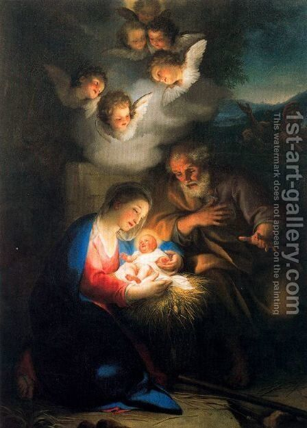 Birth of Christ 2 by Anton Raphael Mengs - Reproduction Oil Painting