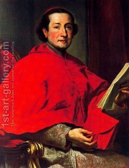 Cardinale Carlo Rezzonico by Anton Raphael Mengs - Reproduction Oil Painting