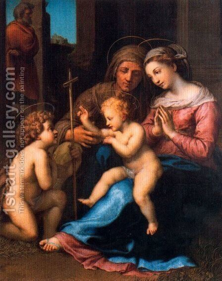 Madonna of Divine Love (copy from Rafaello) by Anton Raphael Mengs - Reproduction Oil Painting