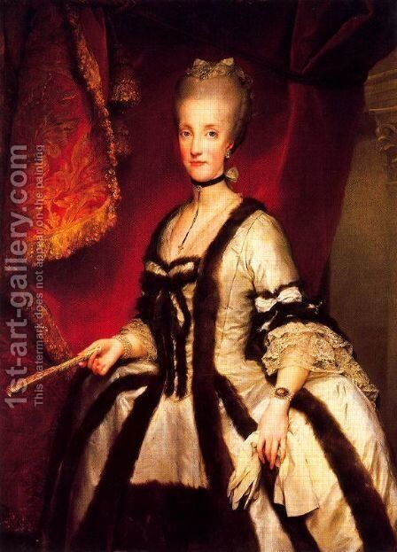 Maria Carolina Hapsburg queen of Naples by Anton Raphael Mengs - Reproduction Oil Painting