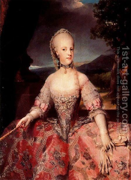 Maria Carolina Lorraine, queen of Naples by Anton Raphael Mengs - Reproduction Oil Painting