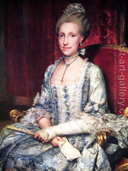 Maria Luisa de Borbón, Grand Duchess of Tuscany, after Empress by Anton Raphael Mengs - Reproduction Oil Painting