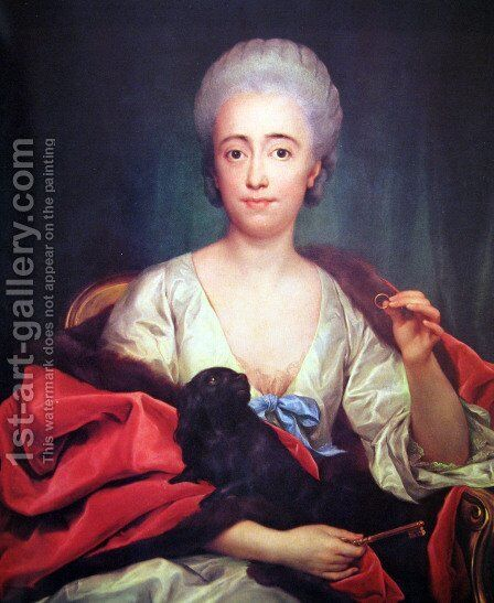 Mariana de Silva y Sarmiento, Duchess of Huescar by Anton Raphael Mengs - Reproduction Oil Painting