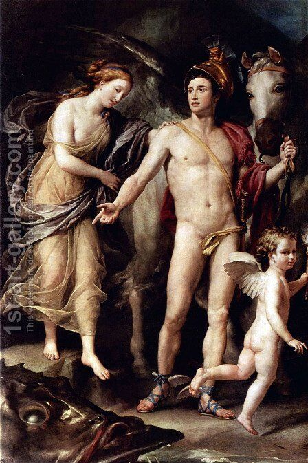 Perseus and Andromeda by Anton Raphael Mengs - Reproduction Oil Painting