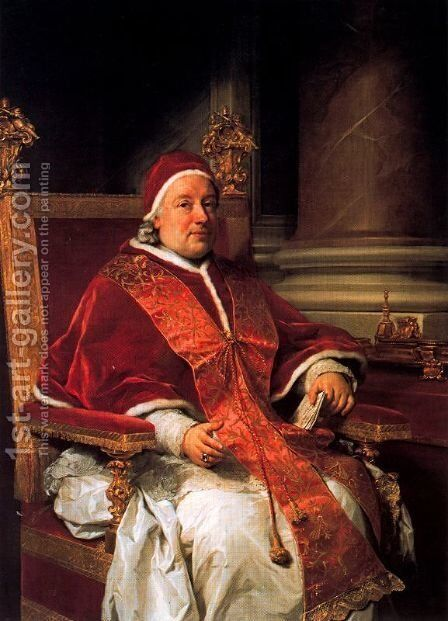 Pope Clemente XIII Rezzonico by Anton Raphael Mengs - Reproduction Oil Painting