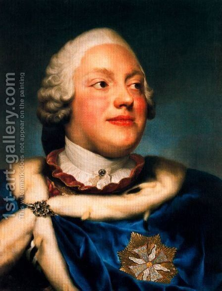 Portrait of Frederick Christian, Prince Elector of Sasso by Anton Raphael Mengs - Reproduction Oil Painting