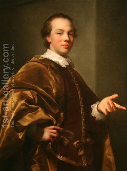 Portrait of John Viscount Garlies, later 7th Earl of Galloway, as Master of Garlies by Anton Raphael Mengs - Reproduction Oil Painting