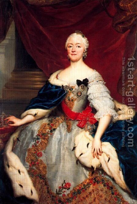 Portrait of Mary Antoni Walpurgis Symphorosa of Bavaria, hereditary Princess by Anton Raphael Mengs - Reproduction Oil Painting