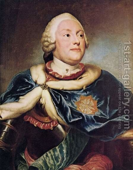 Portrait of Prince Elector Frederic Christian of Saxony by Anton Raphael Mengs - Reproduction Oil Painting