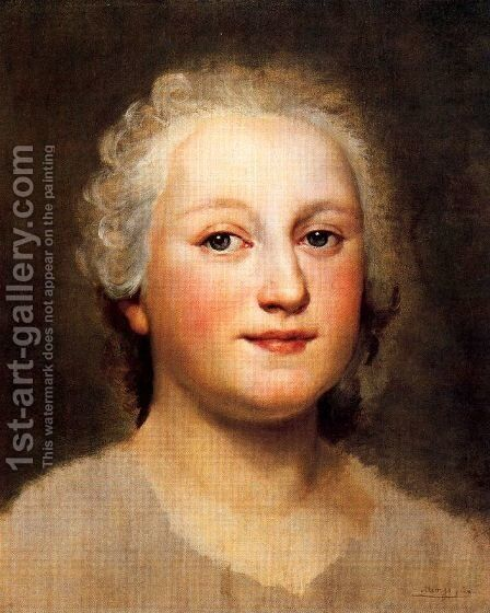 Portrait of a princess by Anton Raphael Mengs - Reproduction Oil Painting