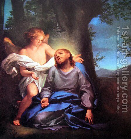 Prayer in the garden by Anton Raphael Mengs - Reproduction Oil Painting
