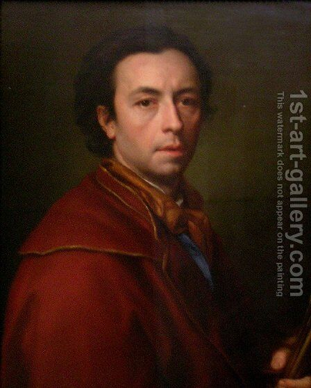 Self-portrait 8 by Anton Raphael Mengs - Reproduction Oil Painting
