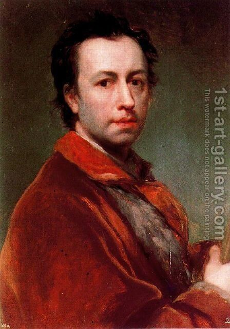 Self-portrait 9 by Anton Raphael Mengs - Reproduction Oil Painting