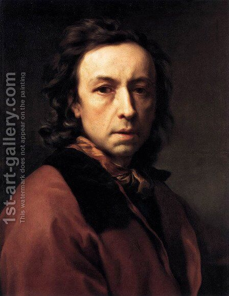 Self-portrait 6 by Anton Raphael Mengs - Reproduction Oil Painting