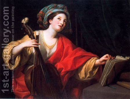 St. Cecilia by Anton Raphael Mengs - Reproduction Oil Painting
