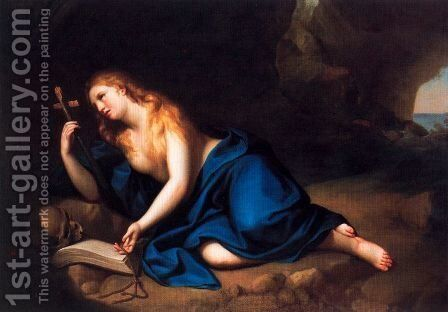 St. Mary Magdalene in a cave by Anton Raphael Mengs - Reproduction Oil Painting