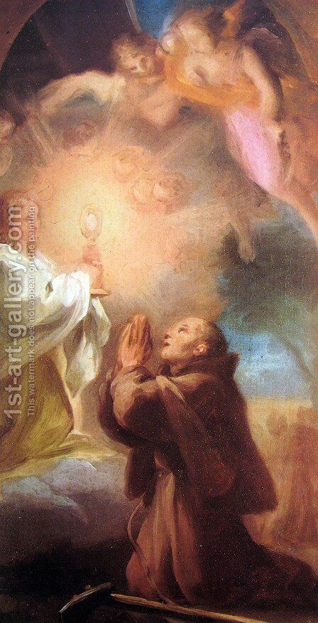 St. Pascual Baylon by Anton Raphael Mengs - Reproduction Oil Painting