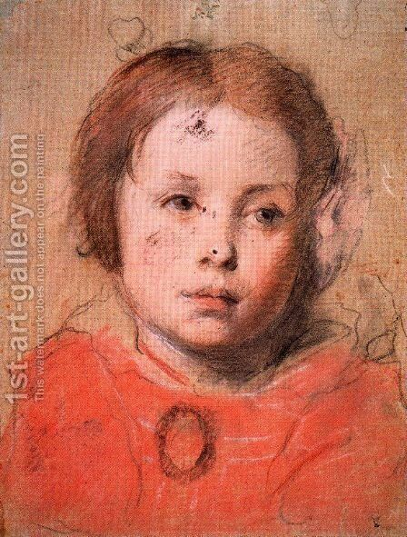 Study for the portrait of a girl by Anton Raphael Mengs - Reproduction Oil Painting
