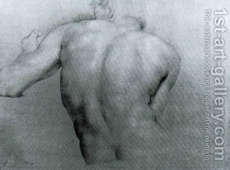 Study of a back for Apoteosi of Hercules by Anton Raphael Mengs - Reproduction Oil Painting