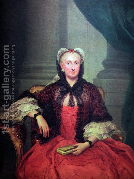 The Queen Mary Amalia of Saxony by Anton Raphael Mengs - Reproduction Oil Painting