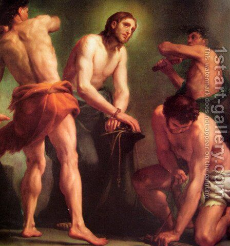 The flagellation by Anton Raphael Mengs - Reproduction Oil Painting