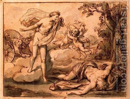 Venus cries for the death of Adonis by Anton Raphael Mengs - Reproduction Oil Painting