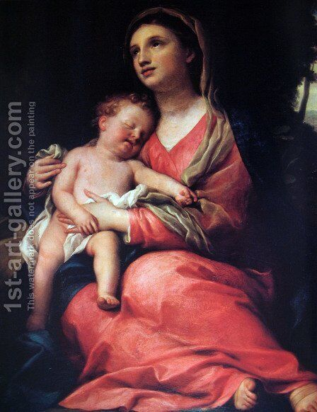 Virgin with the child by Anton Raphael Mengs - Reproduction Oil Painting