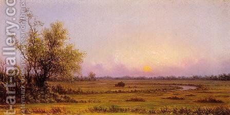 Sunset Marsh (also known as Sinking Sun) by Martin Johnson Heade - Reproduction Oil Painting