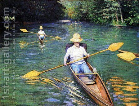 The Oarsmen 2 by Gustave Caillebotte - Reproduction Oil Painting