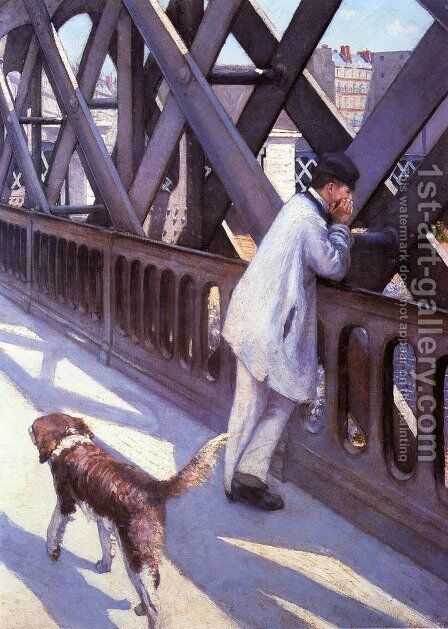 The Pont du Europe (detail) by Gustave Caillebotte - Reproduction Oil Painting