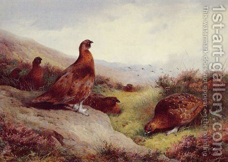 Autumn Glory by Archibald Thorburn - Reproduction Oil Painting