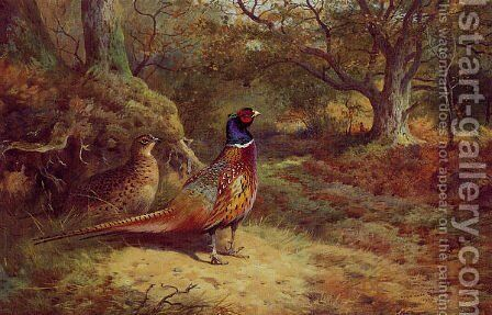 On the Alert by Archibald Thorburn - Reproduction Oil Painting