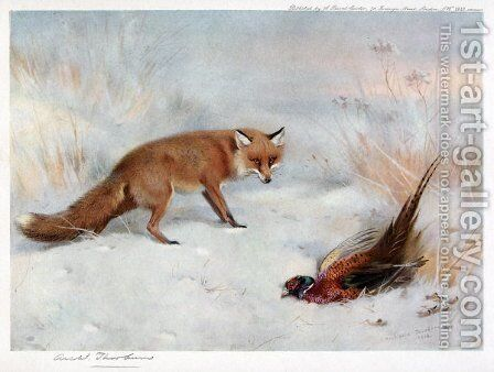 The Windfall by Archibald Thorburn - Reproduction Oil Painting