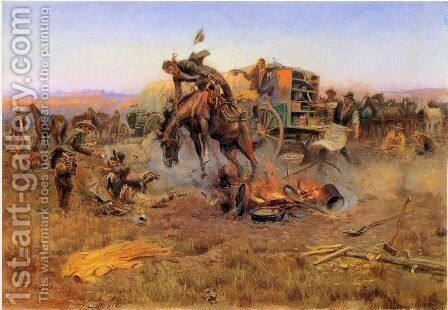 Camp Cook's Troubles by Charles Marion Russell - Reproduction Oil Painting